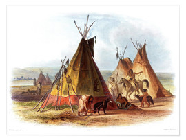 Premium poster  Camp of Native Americans - Karl Bodmer