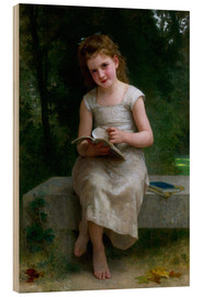 Wood print  The Reader - William Adolphe Bouguereau