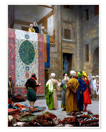 Premium poster  Carpet dealer - Jean Leon Gerome