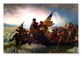Premium poster Washington Crossing the Delaware, 1851