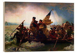 Wood print  Washington Crossing the Delaware, 1851 - Emanuel Gottlieb Leutze