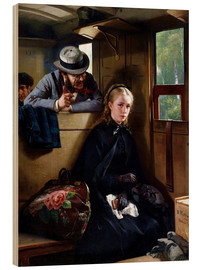 Wood print  The Irritating Gentleman - Berthold Woltze