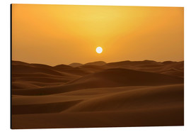 Aluminium print  Sunset in the Erg Chebbi desert - HADYPHOTO