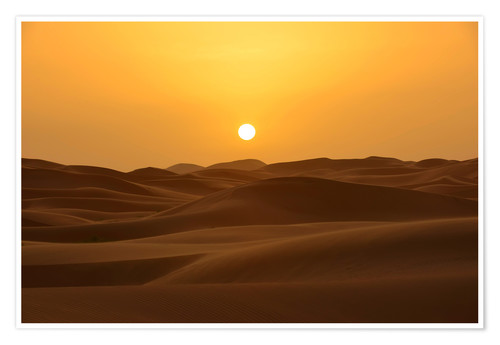 Premium poster Sunset in the Erg Chebbi desert