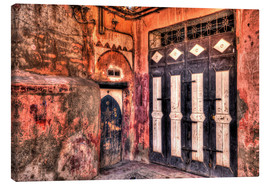 Canvas  Old wooden doors in Marrakech - HADYPHOTO by Hady Khandani