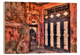 Wood print  Old wooden doors in Marrakech - HADYPHOTO