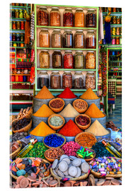 Acrylic print  Spices on a bazaar in Marrakech - HADYPHOTO by Hady Khandani