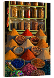 Wood print  Spices from Morocco - HADYPHOTO