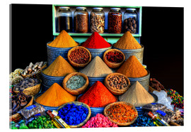 Acrylic print  Oriental spices in Marrakech - HADYPHOTO