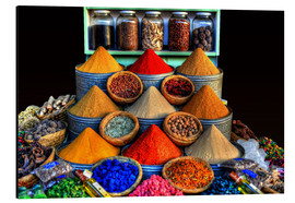 Aluminium print  Oriental spices in Marrakech - HADYPHOTO by Hady Khandani