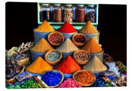 Canvas print  Oriental spices in Marrakech - HADYPHOTO