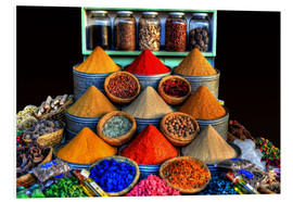 Foam board print  Oriental spices in Marrakech - HADYPHOTO