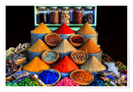Premium poster Oriental spices in Marrakech