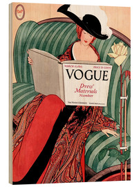 Wood print  Vintage Vogue - Advertising Collection