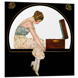 Foam board print  The Music of Women - Clarence Coles Phillips