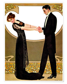 Premium poster  The rendezvous - Clarence Coles Phillips