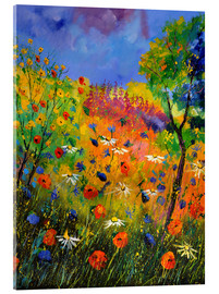 Acrylic print  Meadow with wildflowers - Pol Ledent