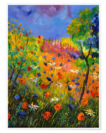 Premium poster Meadow with wildflowers