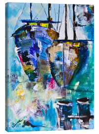 Canvas  coloured Boats - Diana Linsse