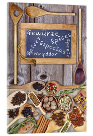 Acrylic print  Spices in different languages - Thomas Klee