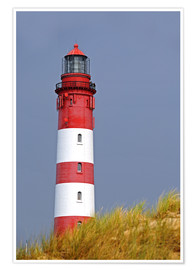 Premium poster red Lighthouse