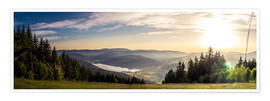 Premium poster  Sunset at Titisee - Siegfried Heinrich