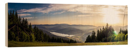 Wood print  Sunset at Titisee - Siegfried Heinrich