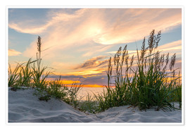 Premium poster Beach of the Baltic Sea at Sunset