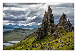 Premium poster  Old Man of Storr, Isle of Skye, Scotland - Walter Quirtmair