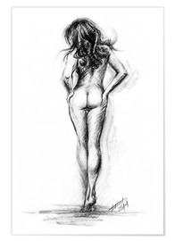 Premium poster Nude female sketch