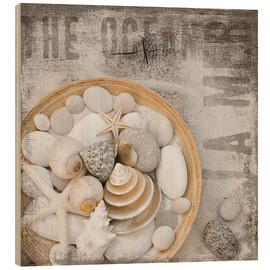 Wood print  Beach Treasures - Andrea Haase