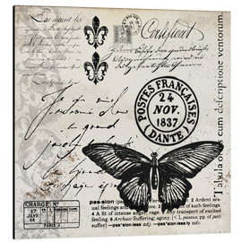 Aluminium print  Vintages Butterfly - Andrea Haase