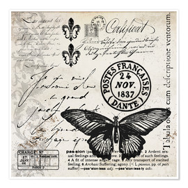 Premium poster Vintages Butterfly