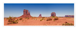 Premium poster  Monument Valley USA Panorama I - Melanie Viola