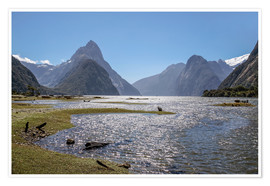 Premium poster  Milford Sound and Mitre Peak (New Zealand) - Christian Müringer