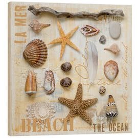 Wood print  Beach Treasures II - Andrea Haase
