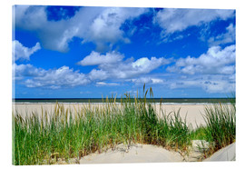 Acrylic glass  Dune with wonderful clouds - Susanne Herppich