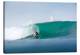 Canvas print  Surfer in paradise - big green surfing wave - Paul Kennedy