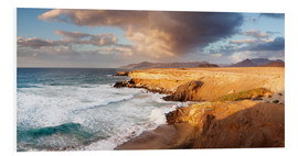 Foam board print  Coast at sunset, Fuerteventura - Markus Lange