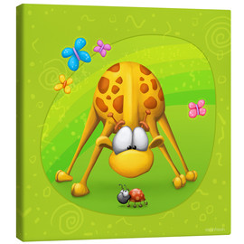 Canvas print  Giraffe with beetle - Tooshtoosh