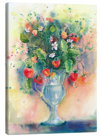 Canvas print  Strawberry bouquet - Jitka Krause
