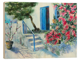 Wood print  Bougainvillea - Jitka Krause