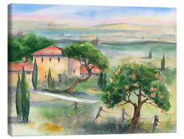 Jitka Krause - Tuscany with orange tree