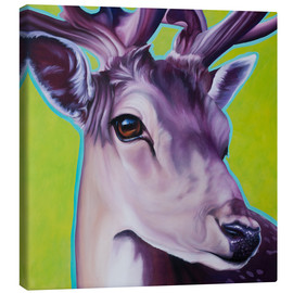 Canvas print  deer green - Renate Berghaus