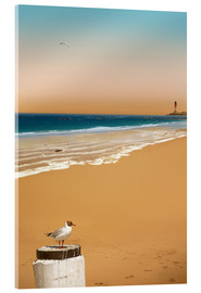 Acrylic print  Stillness on the beach - Monika Jüngling