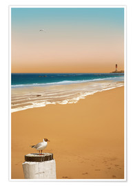 Premium poster  Stillness on the beach - Monika Jüngling