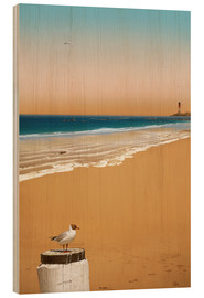 Wood print  Stillness on the beach - Monika Jüngling