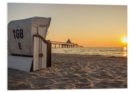 Foam board print  Beach chair on Usedom - Dennis Stracke