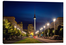 Canvas print  Karl Marx Avenue in the Night - Marcus Klepper