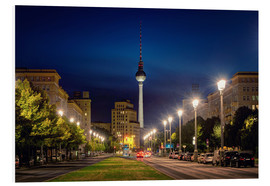 Foam board print  Karl Marx Avenue in the Night - Marcus Klepper